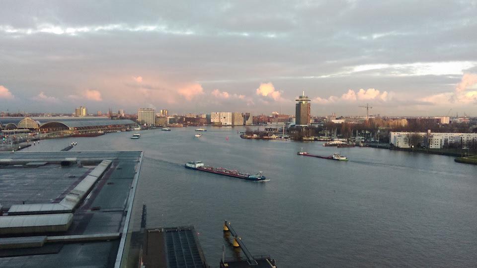 Amsterdam vista along River IJ